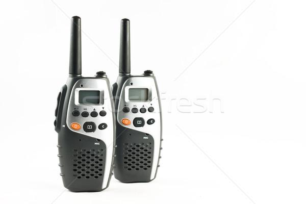 Dois isolado branco tecnologia rádio falar Foto stock © jaykayl
