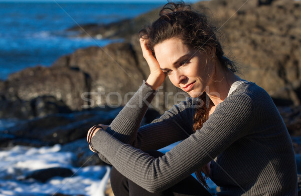 Sad woman deep in thought Stock photo © jaykayl