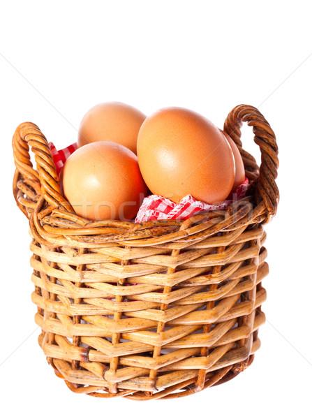 新鮮な 無料 鶏 卵 バスケット ストックフォト © jaykayl