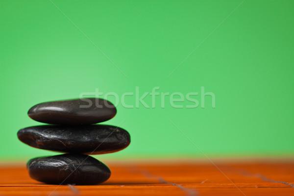 バランス 石 スタック 黒 健康 背景 ストックフォト © jaykayl