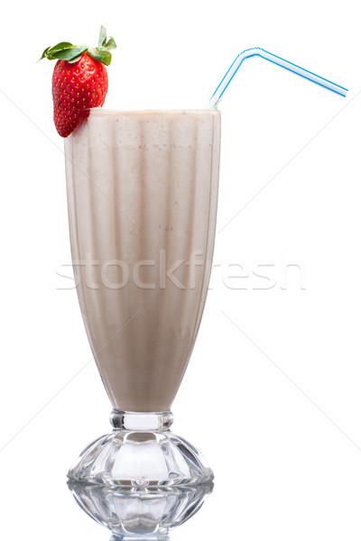 фрукты льстец холодно молочный коктейль украшенный Сток-фото © jaykayl