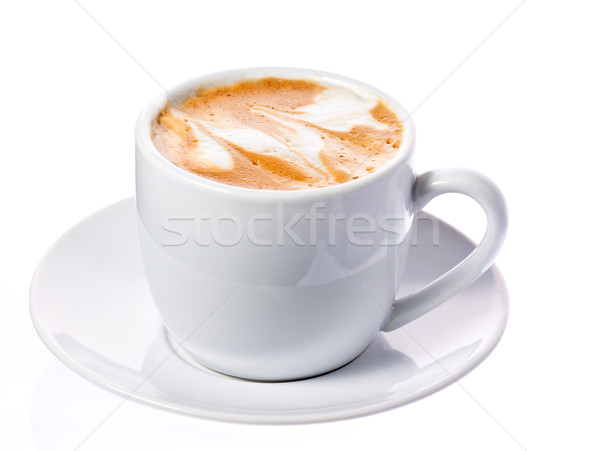 Delicious cup of cappuccino or macchiato Stock photo © jaykayl