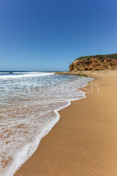 Tengerpart egy híres tengerpartok otthon fut Stock fotó © jeayesy