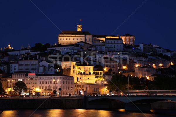 Coimbra City Night View - Portugal Stock photo © jeayesy