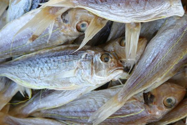 Gedroogd vis verkoop voedsel dieren Stockfoto © jeayesy