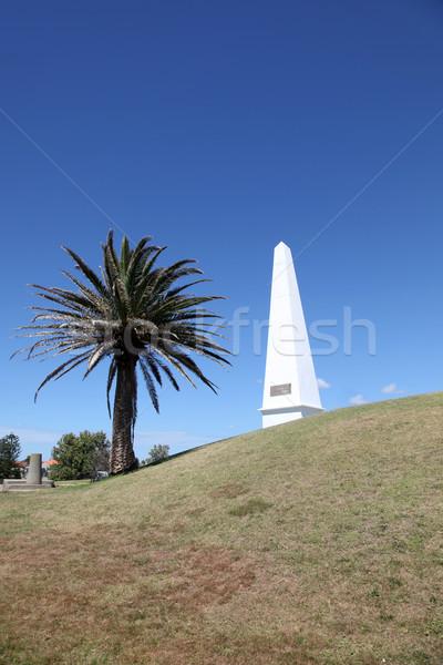 Newcastle Ausztrália helyi tájékozódási pont navigáció segítség Stock fotó © jeayesy