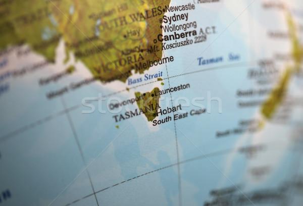 Tasmânia mundo globo raso mapa Foto stock © jeayesy