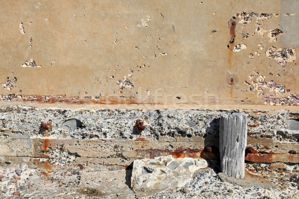 crumbling wall Stock photo © jeayesy