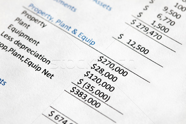Company Balance Sheet Stock photo © jeayesy
