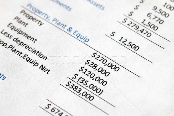 Unternehmen Gleichgewicht Blatt Eigentum Anlage Stock foto © jeayesy