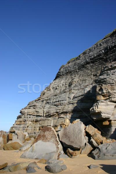 Nierówny skał Urwisko Zdjęcia stock © jeayesy