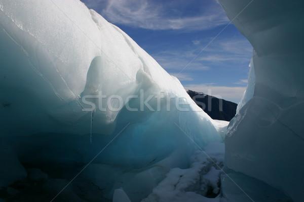 Ghiaccio grotta Fox ghiacciaio Neozelandese formazione Foto d'archivio © jeayesy