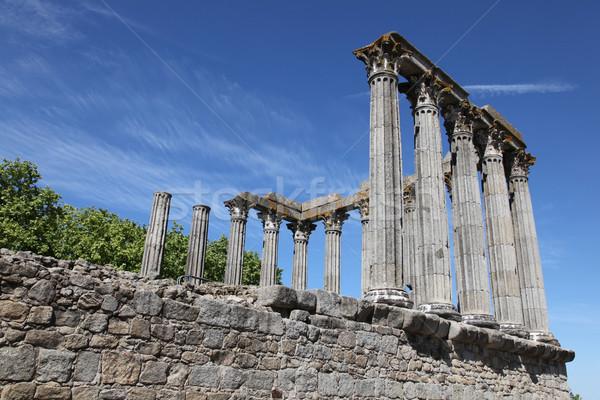 Roman Temple of Evora Stock photo © jeayesy