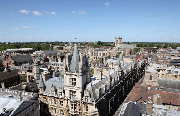 Cambridge inglaterra histórico edifícios grama Foto stock © jeayesy