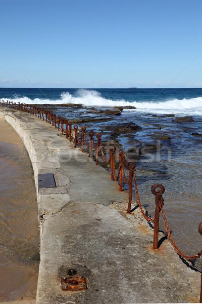 ニューカッスル オーストラリア いい 海 人気のある ストックフォト © jeayesy