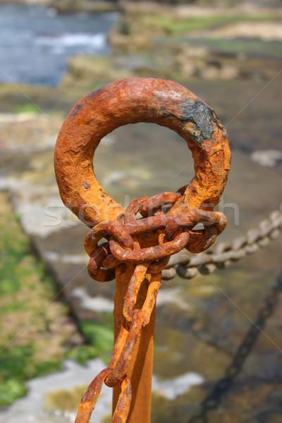 Rusty chain Stock photo © jeayesy