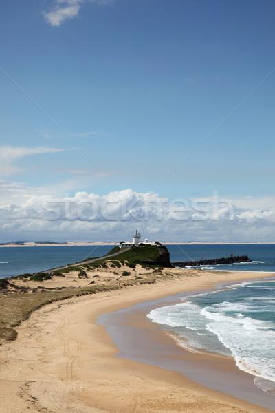 ビーチ ニューカッスル オーストラリア 美しい 灯台 ストックフォト © jeayesy