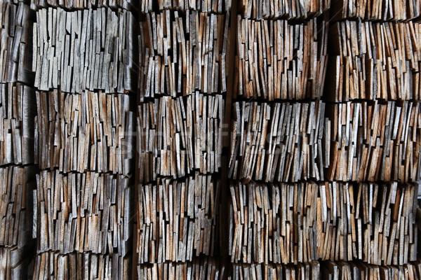 wooden shingles Stock photo © jeayesy