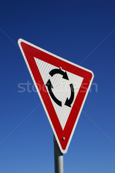 Rotonde teken blauwe hemel hemel Blauw Stockfoto © jeayesy