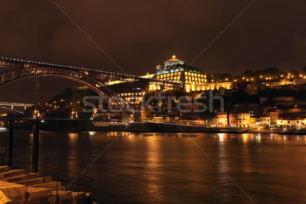 Portugália kilátás folyó éjszaka kép különböző Stock fotó © jeayesy
