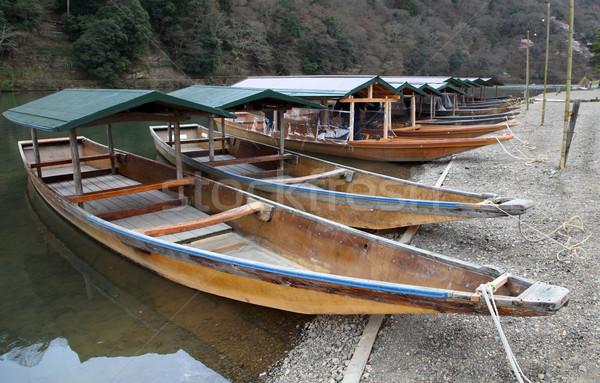 River boats - Kyoto Stock photo © jeayesy
