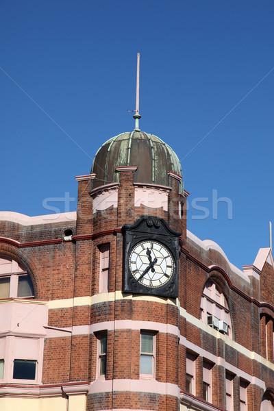 Newcastle történelmi építészet történelmi épület Ausztrália második Stock fotó © jeayesy