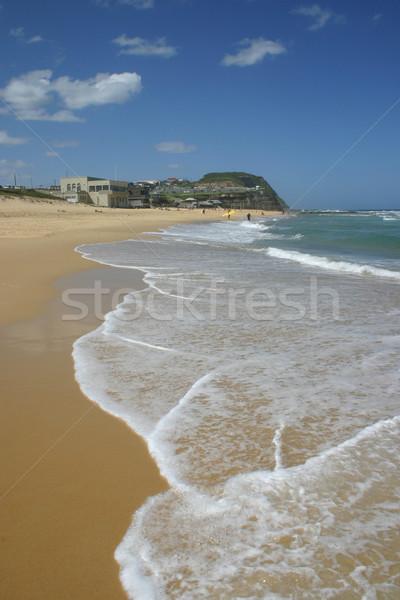 Bár tengerpart Newcastle nyár Ausztrália nap Stock fotó © jeayesy