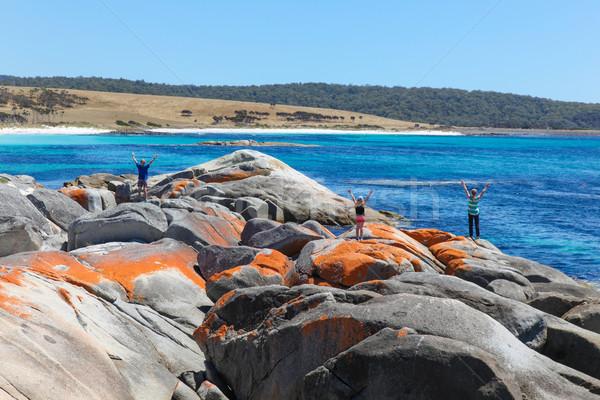 Tuinen tasmanië familie genieten Australië mooie Stockfoto © jeayesy