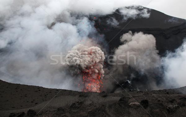 Vulkáni sziget Vanuatu egy világ elérhető Stock fotó © jeayesy
