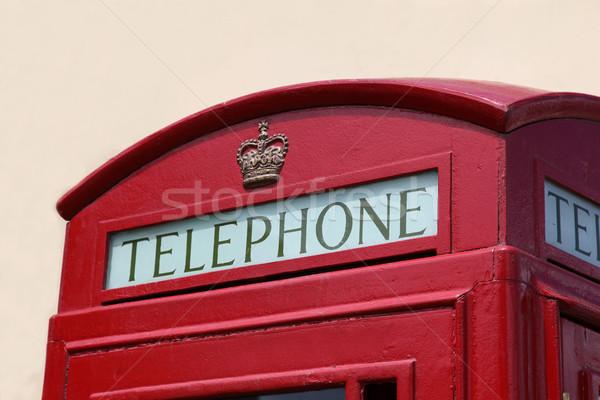 Brits telefoon vak detail Stockfoto © jeayesy