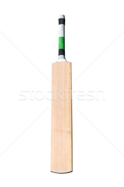 крикет Bat изолированный белый древесины Сток-фото © jeayesy