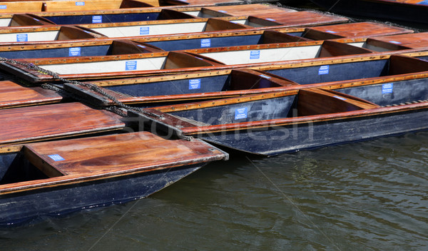 Punts - Cambridge England Stock photo © jeayesy
