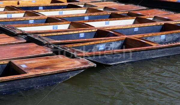ケンブリッジ イングランド グループ 木製 一緒に 川 ストックフォト © jeayesy