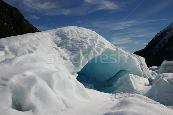 Jég barlang róka gleccser Új-Zéland új Stock fotó © jeayesy