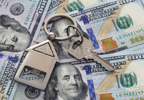 Foto stock: Americano · cem · dólar · notas · um · casa