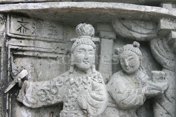 Templo detalle estaño Hong Kong detallado Foto stock © jeayesy