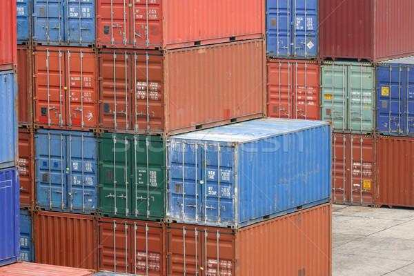 Expédition métal navire industrielle modèle transport Photo stock © jeayesy