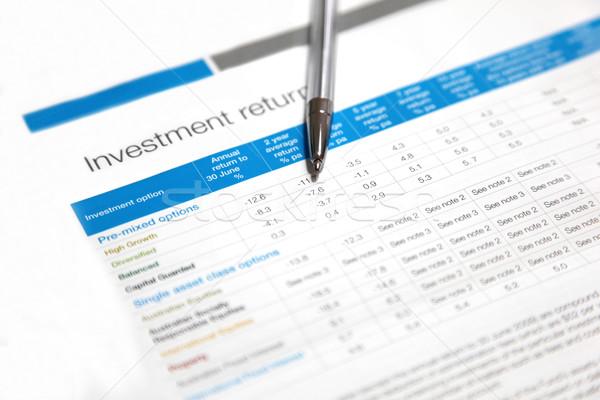 Investment returns Stock photo © jeayesy