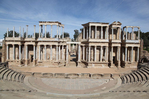 Roman Theatre - Merida Spain Stock photo © jeayesy
