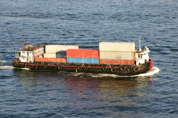 Container Barge Stock photo © jeayesy