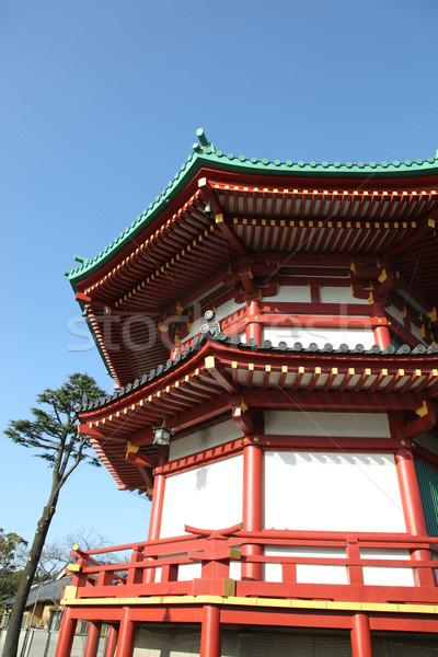 Japonês pagode Tóquio céu azul arquitetura Foto stock © jeayesy