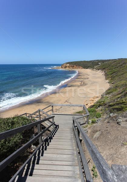 Tengerpart Ausztrália egy híres szörfözik tengerpartok Stock fotó © jeayesy