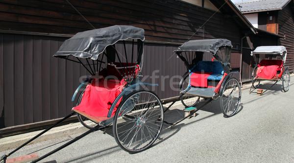 Rickshaws - Takayama Japan Stock photo © jeayesy