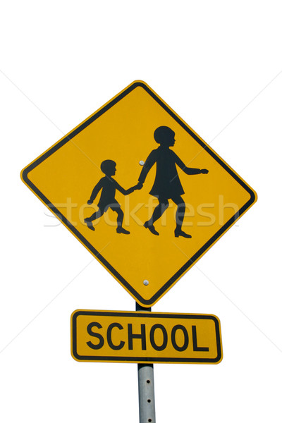 school sign Stock photo © jeayesy