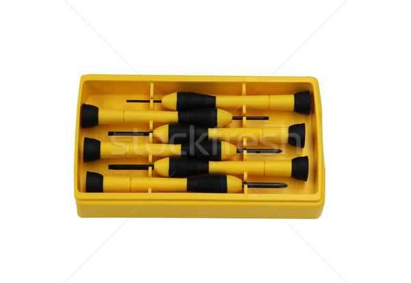 yellow screwdrivers Stock photo © jeayesy