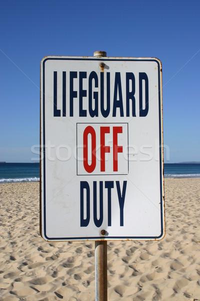 Vida guardia deber signo playa Foto stock © jeayesy