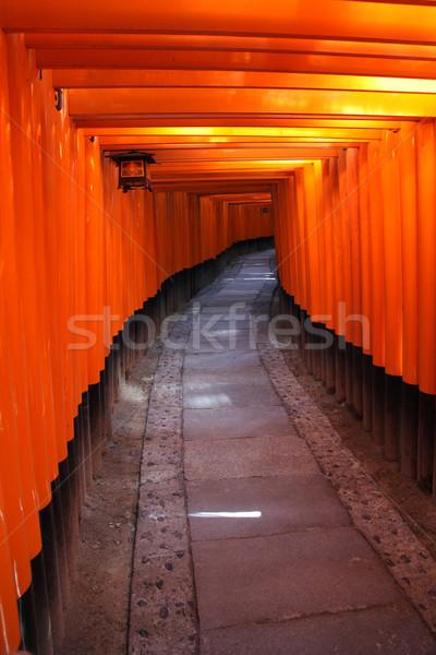Kyoto Japon à l'intérieur tunnel japonais Photo stock © jeayesy