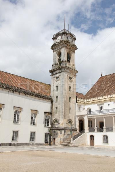 Université principale vieux bâtiment célèbre Portugal Photo stock © jeayesy