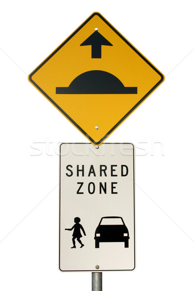 Isolated shared zone sign Stock photo © jeayesy
