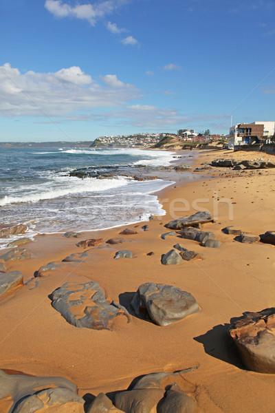 Newcastle Ausztrália bár tengerpart kettő sok Stock fotó © jeayesy